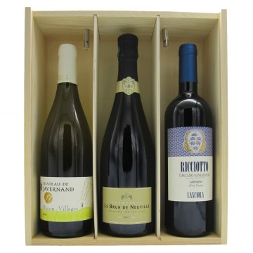 French and Italian Wine Selection Gift Box