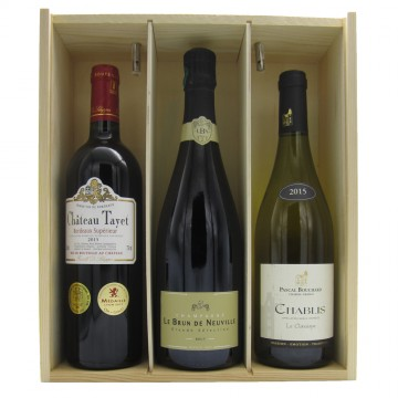 Champagne Bordeaux & Burgundy Selection Gift Box #1
