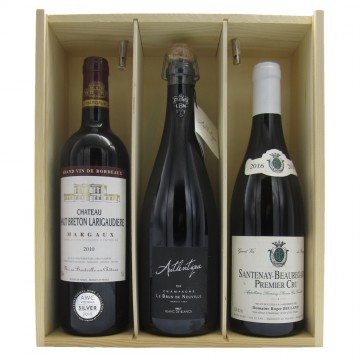 Champagne Bordeaux & Burgundy Selection Gift Box #2